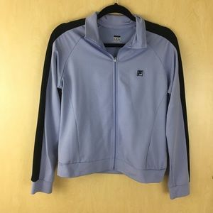 Fila Periwinkle and Black Zip Up